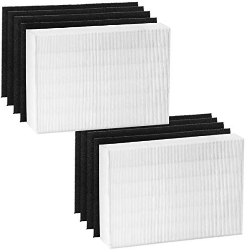 Altec Filters HEPA Premium Quality Replacement Filters Compatible for Coway AP1512HH AP-1512HH 3304899 Air Purifier, 2 HEPA Filter Plus 8 Activated Carbon Prefilters