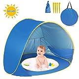 Tente de plage Pop Up pour enfants, bébé Tente de plage automatique portable anti-UV Abri solaire Intérieur et extérieur...