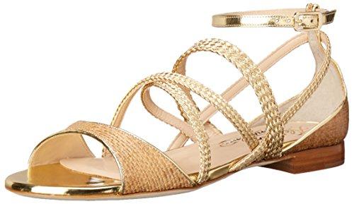 Alejandro Ingelmo Women's 4015 Dress Sandal, Platino, 37.5 EU/6.5 W US