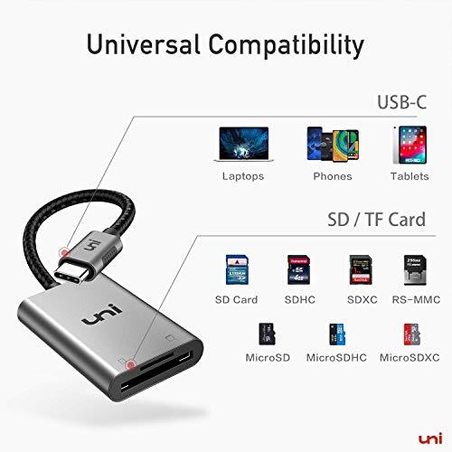 USB C auf Micro SD + SD Kartenleser, uni SD Adapter[Thunderbolt 3], kompatibel für Chromebooks und viele weitere Notebooks - 7
