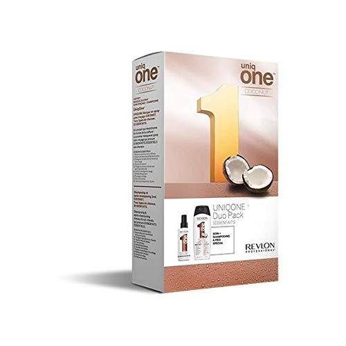 Revlon Professionnel - Coffret Shampooing Soin Demelant Coco + Masque Spray Sans Rincage Coco 300ml Uniq One Revlon Professionnel