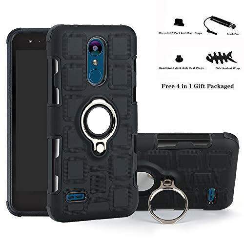 for LG K8 / K9 case,Labanema Hybrid Dual Layer 360 Degree Rotation Ring Holder Kickstand Armor Slim Protective Cover for LG K8 2018 / K9 2018 - Black