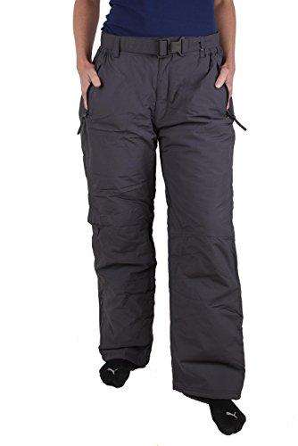 Générique Femmes Pantalons de Ski et Veste de Ski Teflon (Gris, X-Large)
