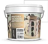 PINTURA FACHADAS ANTIMOHO, Repelente al agua, impermeable y anti fisuras. (20 kg, BLANCO).