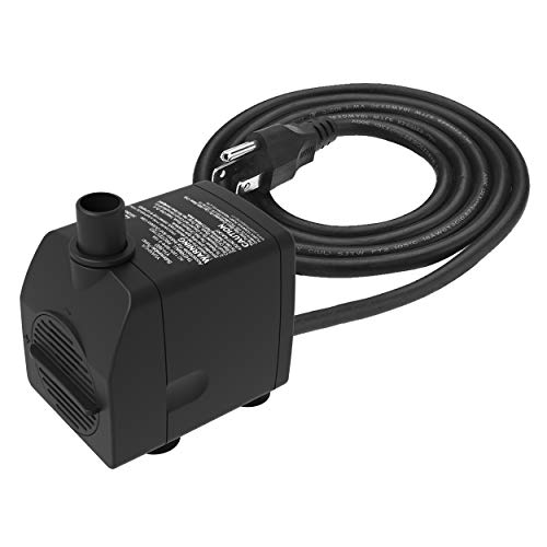 YH YUANHUA Submersible Water Pump Ultra Quiet with Dry Burning Protection160GPH for Fountains, Hydroponics, Ponds, Aquariums & More …