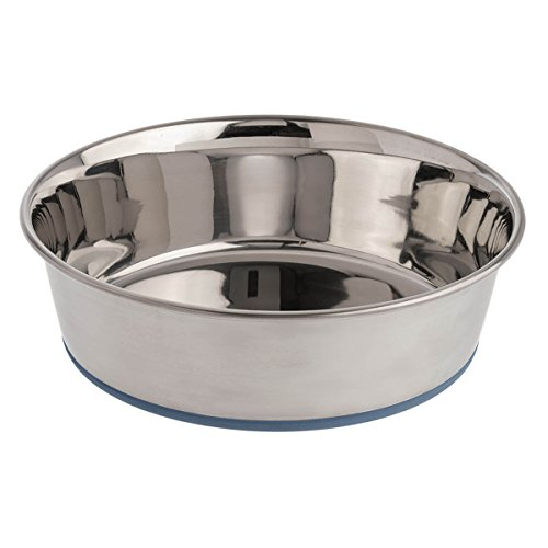 OurPets Durapet Premium Rubber-Bonded Stainless Steel Dog Bowl 4.5 Quart