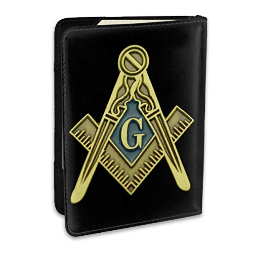Masonic Symbol Personalized Fashion Leather Passport Holder Covers Case Travel Wallet 6.5 In For Women Men