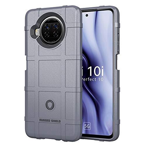 Happy-L Funda para Xiaomi 10i 5G, silicona TPU a prueba de golpes Funda protectora para teléfono, suave absorción de golpes caso parachoques (color: gris)