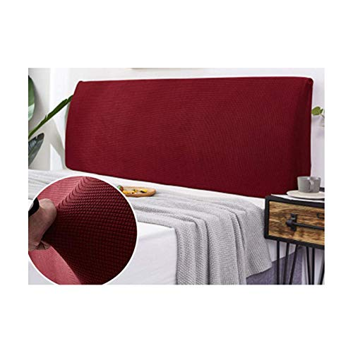 Siunwdiy Zur Abdeckung für Bettkopfbettdecke, Staubschutz Kopf Plüsch verdicken Elastic All-Inclusive Kopf Bedspread The Guard Rear Staubschutz Kopfbedeckung,Wine red,220 * 65cm