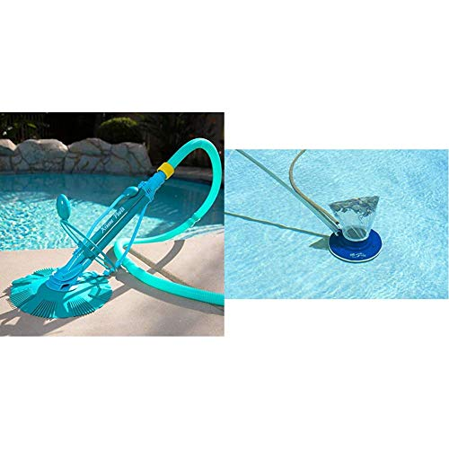 XtremepowerUS 75037 Climb Wall Pool Cleaner Automatic Suction Vacuum-Generic, Blue & Poolmaster...