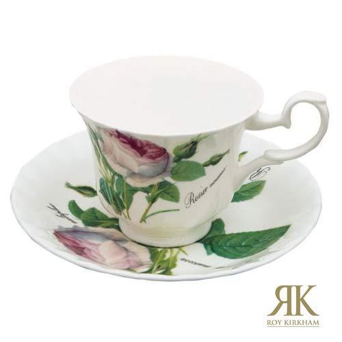 Roy Kirkham Redoute Rose Kaffeetasse mit Unterteller