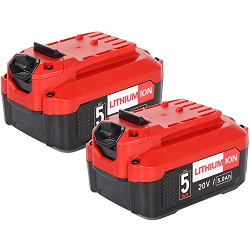 Powermall 20V 5.0Ah Lithium Ion Replacement Battery Compatible with Craftsman CMCB205 CMCB202 CMCB204 CMCB206, 2 Pack