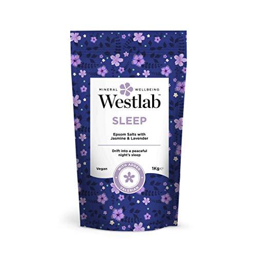 Westlab's Sleep Epsom & Sali del Mar Morto con lavanda e gelsomino, 1 kg