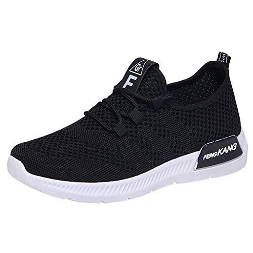 Dorical Damen Strick Atmungsaktiver Sneakers Trainer Casual Sportschuhe Wanderschuhe Leichtgewicht Sportschuhe Laufschuhe Outdoor Schuhe Gr 36-40(Schwarz,39 EU)