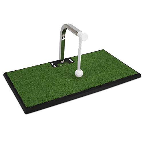 Inomhus Golf Swing Trainer Matta Golf Kort Gummi Puttning Grön Automatisk Retur 360° Swing Trainer Putting Matta Avstånd Träning Matta Present
