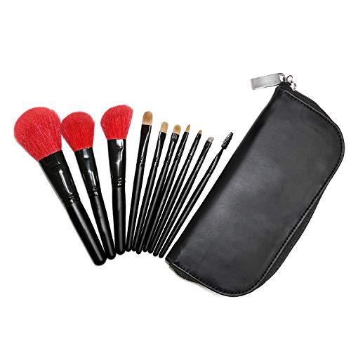 Pinceaux de maquillage prime poils naturels Kabuki pinceau ensemble fard à paupières fard à paupières sourcils blush eyeliner pinceau à lèvres mis 10 pcs Brosse à maquillage XXYHYQ