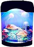 Luz de noche de medusas LED de escritorio pecera lámpara de acuario que cambia de color luz de decoración alimentada por USB para niños decoración del dormitorio del hogar