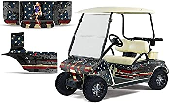 AMR Racing Golf Cart Graphics kit Sticker Decal Compatible with Club Car 1983-2014 - WW2