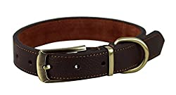 Strong and Durable copper belt buckle, made to last a long time. Strong leather collar recommend for large or medium dogs Use only finest leather and very neat handmade skills Easy to use. We have Red, Black and Brown colors in our store. Please meas...