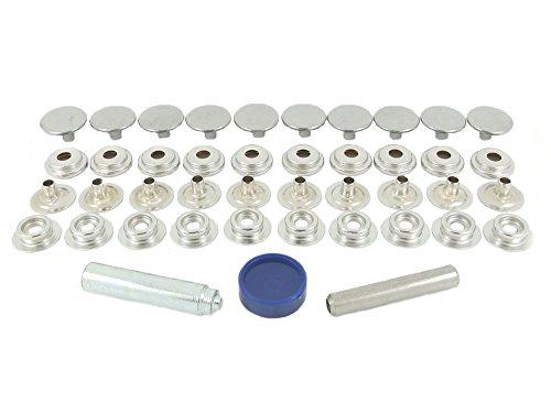 BPS 850–7R00(304)–Kit Reparatur von Druckknöpfe Edelstahl 304–Presse-Grade 7mm–Anwendung Stoff auf Stoff (10Sets)
