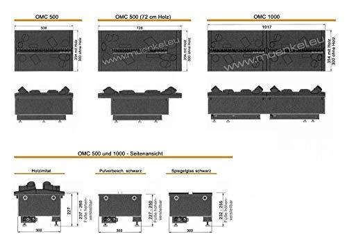 Faber OMC 1000 M Log Insert Fireplace Eléctrico Negro Interior – Chimenea (230 V, 225 W, 1000 mm, 300 mm, 250 mm, 18 kg)