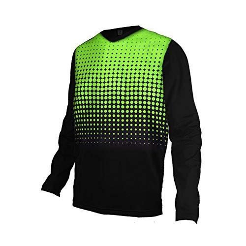 Uglyfrog Herren Downhill Jersey, MTB Männer T-Shirt, Mountainbike/Motocross Herren Langarm/Kurze Ärmel Fahrrad Trikot T Shirt Radtrikot Cycling Jersey für Radsport DEHerDownFT04