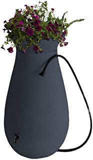 Algreen Products Cascata Rain Barrel 65-Gallon, Slate Grey