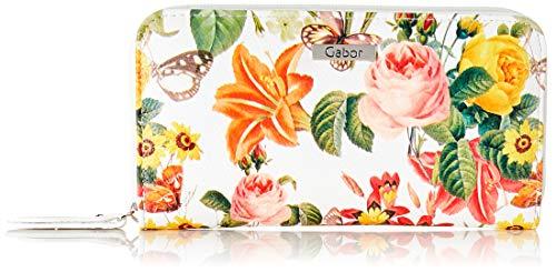 Gabor Portemonnaie, Damen, Weiß, Granada Spring, 14x4x10 cm, Geldbeutel, Portemonnaie, Blumenmuster