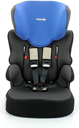 Seggiolino auto NANIA Beline - Gruppo 1/2/3 - (9-36 Kg) - produzione francese 100% - protezioni lateralI (blue)