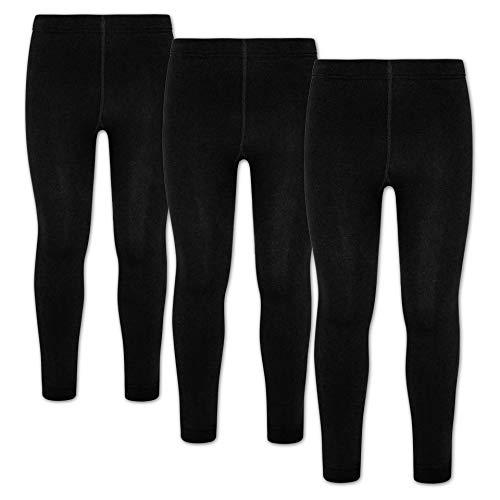 ORIGINAL BASICS Kinder Thermo Leggings mit Fleece (3 Pack) Schwarz 164/176
