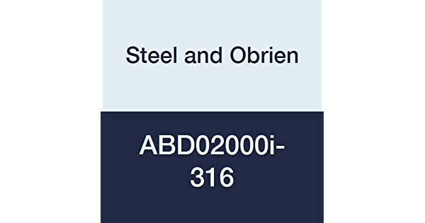 Steel and Obrien ABD02000i-316 Stainless Steel 16AMP Solid End Cap 2 x .25 OAL 2 x .25 OAL