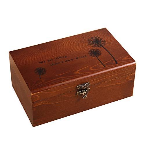 CHAWHO Caja de Costura de Madera - 68 Piezas Accesorios de Costura para Hilos de Coser, Tijeras, Agujas, Alfileres, Botones, Cinta Métrica etc