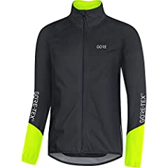 Versatile men's jacket for cyclists in cool weather conditions Form fit/bike-specific cut GORE-TEX Active Technology: Waterproof, windproof and extremely breathable Extended back as splash guard, Back pocket with zip, Can be worn with a backpack GORE...