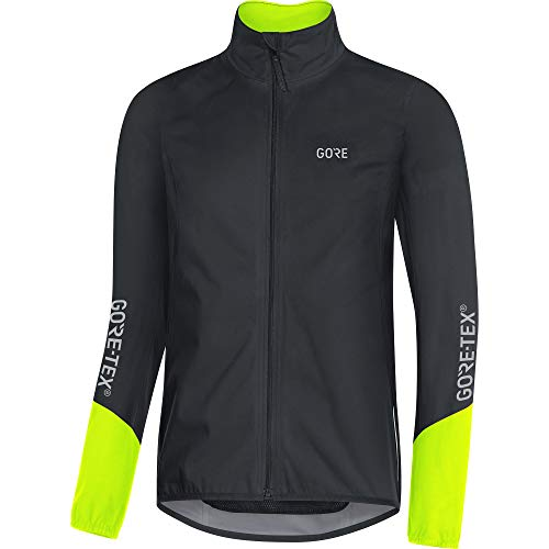 GORE Wear C5 Herren Fahrrad-Jacke GORE-TEX, M, Schwarz/Neon-Gelb