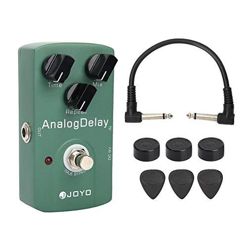 Delay Pedal de efectos de guitarra eléctrica JF-33 Pedal de efectos de guitarra analógica con True Bypass e interruptor de servicio pesado