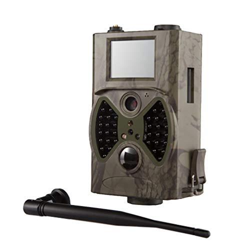 Luckyza 1080P gsm GPRS Cámara De Caza Fauna 12MP IP66 0.5S Trigger 940Nm IR LED Cámara Vigilancia De Visión Nocturna con Pantalla LCD De 2 \'\' para Seguridad En El Hogar De Campo Al Aire Libre