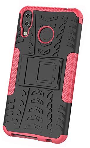 XINFENGDI Coque ASUS ZenFone 5Z ZS620KL,Antichoc 2 en 1 Robuste Hybride Armure TPU + PC Étui Housse avec Béquille Exclusivement pour ASUS ZenFone 5Z ZS620KL - Rose