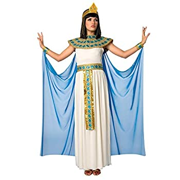 Womens Blue Cleopatra Costume Ancient Egypt Egyptian Princess Dress For Women - Large