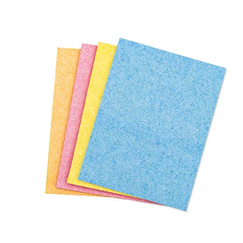 Hygloss Ums, 5' x 7', 4 Sheets (Cellulose Sponge), 5 x 7-Inch [4 Pcs], assorted