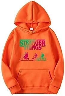 Sudadera Stranger Things Mujer, Sudadera con Capucha Stranger Things Unisex Hombres Chicas Niña y Niños Suéter Jersey Depo...