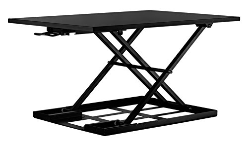 Mount-It! Standing Desk Converter, Height Adjustable Sit Stand Desk, 32x22 Inch Preassembled Stand...