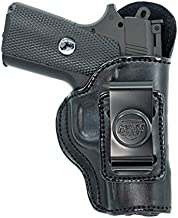 Maxx Carry IWB Leather Gun Holster for Kimber Micro 9, Ultra Carry II 9mm / .45 ACP | Concealed Carry | Bersa Thunder 380 | Colt 1911 3 inch, Defender | Sig Sauer P365XL, Black, Right Hand Draw