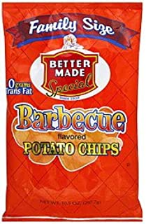 Better Made BBQ Chips Family Size 10.5 Oz (Pack of 2)