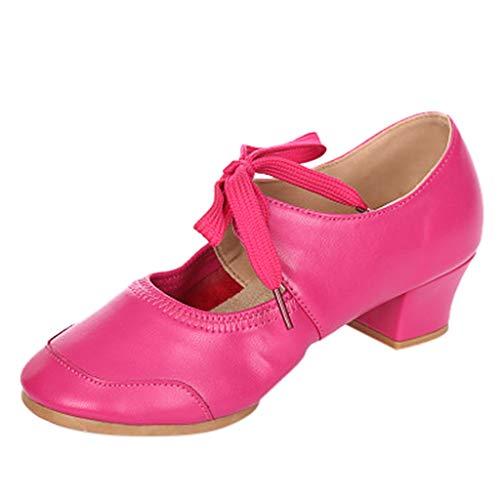 Dasongff Tanzschuhe Damen Ballettschuhe Gymnastikschuhe Ballettschläppchen Modern Ballrom Latein Dance Schuhe Ledersohle Pumps