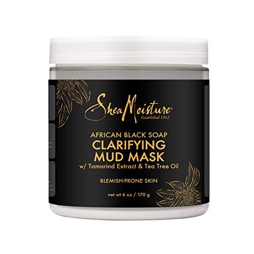 Sheamoisture Clarifying Mud Mask for Oily, Blemish-Prone Skin African Black Soap to Clarify Skin 6 oz