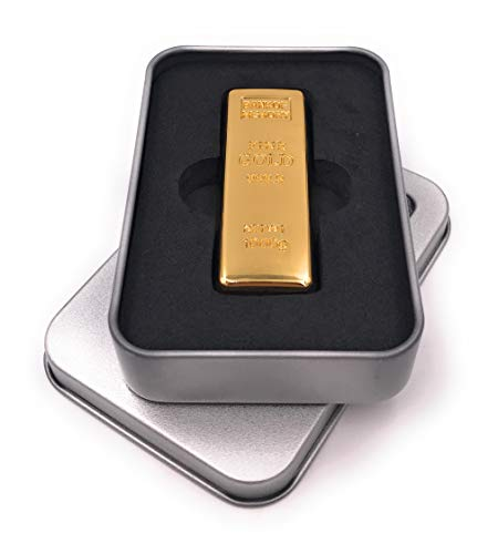 Onwomania Lingotes de Oro Metal Precioso Memoria USB Stick en Caja de Regalo de ALU 8 GB USB 2.0