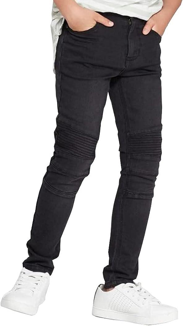 Art Class Boys Moto Woven Super Skinny Black Jeans