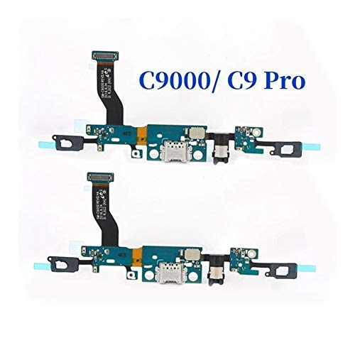 HenShiXin Sensible USB Conector Dock Flex Cable For Samsung Galaxy C9Pro C9000 Junta C900F Cargador portuario de Carga del Cable con el Auricular sólido (Color : For C900F)