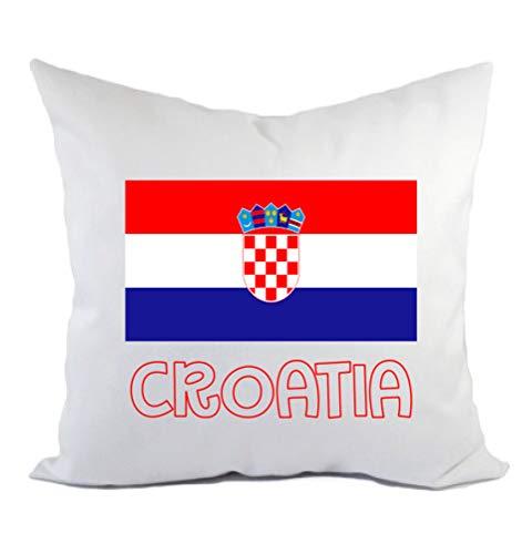 Typolitographie Ghisleri Kissen Kroatien Flagge Kissenbezug & Füllung 40 x 40 cm aus Polyester