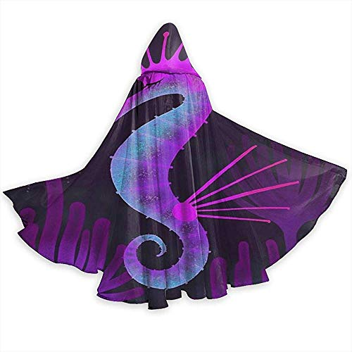 Zome Lag volwassen capuchon mantel, rol spelen jurk omhoog, mannen Womens lengte mantels, Wizard Cape, Zeepaardje Jellyfish Party Cosplay kostuum, Halloween capuchon mantels, mantel Cape